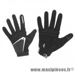 Gant hiver cg 503 (taille XL) noir/blanc renfort gel (paire) marque Exustar