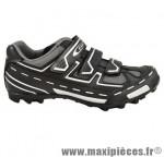 Chaussure VTT panther noir/gris t46 3 velcros (paire) marque GES
