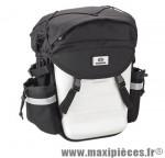 Sacoche vélo bbp91 noir/blanc porte bagage a l'unité (21x15x37cm) marque Exustar