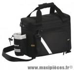 Sacoche vélo noir porte bagage +poche porte bidon +extensions latérales (22x31x19) marque Exustar