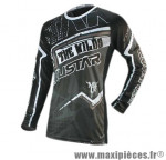 Maillot noir/blanc ml (taille XL) manches amovibles poche zip marque Exustar
