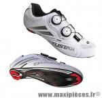 Chaussure route sr238sl t41 blanc système lacage boa semelle carbone (paire) marque Exustar pour cycliste