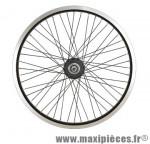 Roue vélo BMX 20 pouces arrière axe 10mm moyeu roulement annulaire 48t jante noire dble paroi - Accessoire Vélo Pas Cher