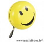 Sonnette ding-dong jaune smiley d 80mm - Accessoire Vélo Pas Cher
