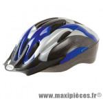 Casque VTT ventura bleu/gris/noir avec réglage occipital 54/58 - Accessoire Vélo Pas Cher