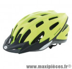 Casque VTT/urbain ventura jaune fluo reflect. avec réglage occipital 54/58 + leds - Accessoire Vélo Pas Cher