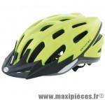 Casque VTT/urbain ventura jaune fluo reflect. avec réglage occipital 58/62 + leds - Accessoire Vélo Pas Cher