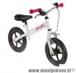 Vélo sans pédale draisienne kid blanc/rose des 20 mois 4 ans - Accessoire Vélo Pas Cher - Draisienne pour enfant