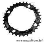 Plateau 32 dents VTT triple diamètre 104 interm noir 4 branches origine acera m361 8/9v. marque Shimano - Matériel pour Vélo