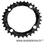 Plateau 32 dents VTT triple diamètre 104 interm noir 4 branches origine deore m480 8/9v. marque Shimano - Matériel pour Vélo