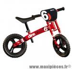 Vélo sans pédale draisienne dino bike runner moto rouge - Accessoire Vélo Pas Cher - Draisienne pour enfant