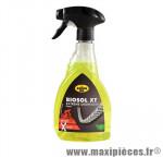 Dégraissant chaine/dérailleur biosol xt (pulvérisateur 500ml) marque Kroon Oil - Entretien Vélo