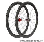 Roue route 700 (paire) fir carbone r2 boyau noire k7 shim 9/10/11v jante 50mm 1400 grammes - Roues de vélo FIR