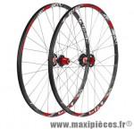 Roue VTT 27.5 pouces (paire) fir hyperlite tubeless disc noire 8/9/10v a roulement 1750 grammes - Roues de vélo FIR