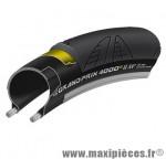 Pneu pour vélo de route 700x25 ts gp 4000 s ii noir/noir 225g. (black chili/vectran breaker marque Continental - Accessoire Vélo