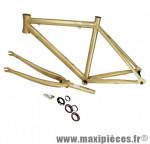 Cadre route+fourche alu junior brut h41cm (24 pouces) 1 1/8 - Accessoire Vélo Pas Cher