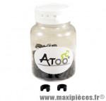 Clips fixation durite de frein hydraulique (x100) marque Atoo - Matériel pour Vélo