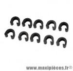 Clips fixation durite de frein hydraulique (x10) marque Atoo - Matériel pour Vélo