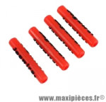 Protège douille de direction/cadre rouge gaine route/VTT x4 (kit) - Accessoire Vélo Pas Cher
