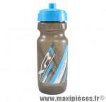 Bidon xr1 gris bouchon bleu ciel 600ml marque Race One - Accessoire Vélo
