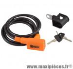 Antivol vélo spiral a clé d 6 x 1.50m noir/orange avec support marque Rangers - Antivol Vélo