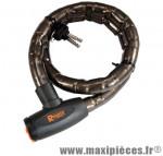Antivol vélo spiral a clé d25 x 1.00m noir/orange avec support marque Rangers - Antivol Vélo