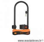 Antivol vélo u 165 x 320mm noir/orange avec support marque Rangers - Antivol Vélo