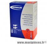 Chambre à air de tradi 16x1 3/8 a 18x1.35 vp (37-340/35-555) valve 40mm marque Schwalbe