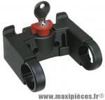 Fixation avant panier/sacoche diamètre cintre 22-26 mm (avec antivol a clé) marque Klickfix - Accessoire Vélo