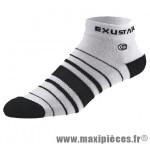Socquette bs830 coton nano noir/gris 37/39 (s) (paire) marque Exustar pour cycliste