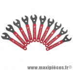 Clé a cône pour moyeu roue 13/14/15/16/17/19mm atelier (jeu 6 cles) - Accessoire Vélo Pas Cher
