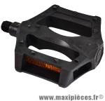 Prix spécial ! Pédale BMX plateforme type compétition résine noir Ø 9/16 (paire) marque Atoo - Matériel pour Vélo