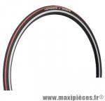 Pneu pour vélo de route 700x23 ts intensive 2 kevlar+hardskin noir/rouge 230g. marque Hutchinson