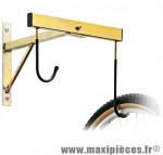 Support vélo mural 2 vélos fixation roue 36x45cm métal - Accessoire Vélo Pas Cher