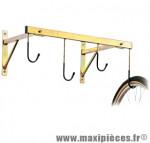 Support vélo mural 4 vélos fixation roue 76x45cm métal - Accessoire Vélo Pas Cher