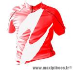 Maillot enfant rouge mc (taille 8/10 ans) marque GIST - Casque Vélo