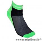 Socquette coton vert fluo hauteur 10cm 40/43 (paire) marque GIST - Casque Vélo pour cycliste