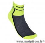 Socquette coton jaune fluo hauteur 10cm 36/39 (paire) marque GIST - Casque Vélo pour cycliste