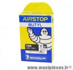 Chambre à air de route 700x18/25 vp a1 valve 80mm marque Michelin - Pièce Vélo