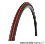 Pneu pour vélo de route 700x23 ts expert noir/rouge 62tpi (23-622) marque Optimiz - Matériel pour Vélo