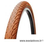 Pneu de VTT 26x1.75 city marron vintage anti-crevaison (stop-crevaison) (47-559) marque Deli Tire