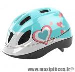 Casque enfant kith blanc/rose/bleu avec réglage occipital 52/56 marque Headgy - Casque Vélo
