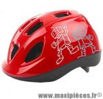 Casque enfant robot rouge avec réglage occipital 52/56 marque Headgy - Casque Vélo