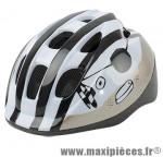 Casque enfant pirate blanc/noir/or avec réglage occipital 52/56 marque Headgy - Casque Vélo