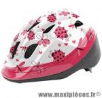 Casque enfant baby lady bird blanc/rose avec réglage occipital 46/53 marque Headgy - Casque Vélo