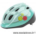 Casque enfant baby tailor turquoise/blanc avec réglage occipital 46/53 marque Headgy - Casque Vélo