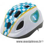 Casque enfant baby race blanc/bleu avec réglage occipital 46/53 marque Headgy - Casque Vélo