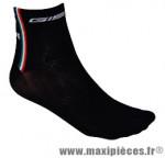 Socquette coton noir hauteur 10cm 36/39 (paire) marque GIST - Casque Vélo pour cycliste