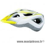 Casque VTT siron gris argent/jaune in-mold avec réglage occipital 52/60 marque Cratoni - Casque Vélo