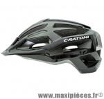 Casque VTT c-flash noir/gris in-mold avec réglage occipital 56/59 marque Cratoni - Casque Vélo
